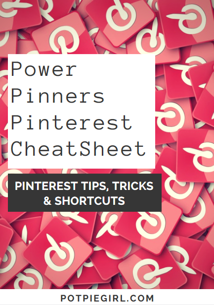 Pinterest shortcuts, tips, tricks and hacks for those SERIOUS about their Pinterest marketing and Pinterest results.  Easy to read CheatSheet full of amazing Pinterest tips.