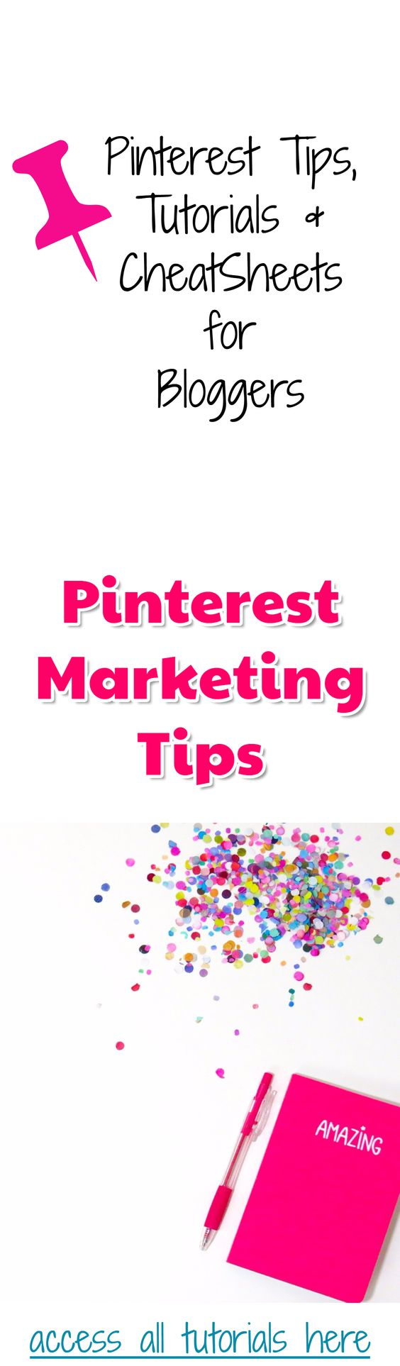 Pinterest Marketing resources for bloggers. Learn the best Pinterest marketing tips and tricks, get Pinterest tutorials, learn Pinterest strategies and get your Pinterest Marketing CheatSheet.